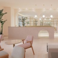 Penda China creates rosy interiors for Ecnesse beauty salon