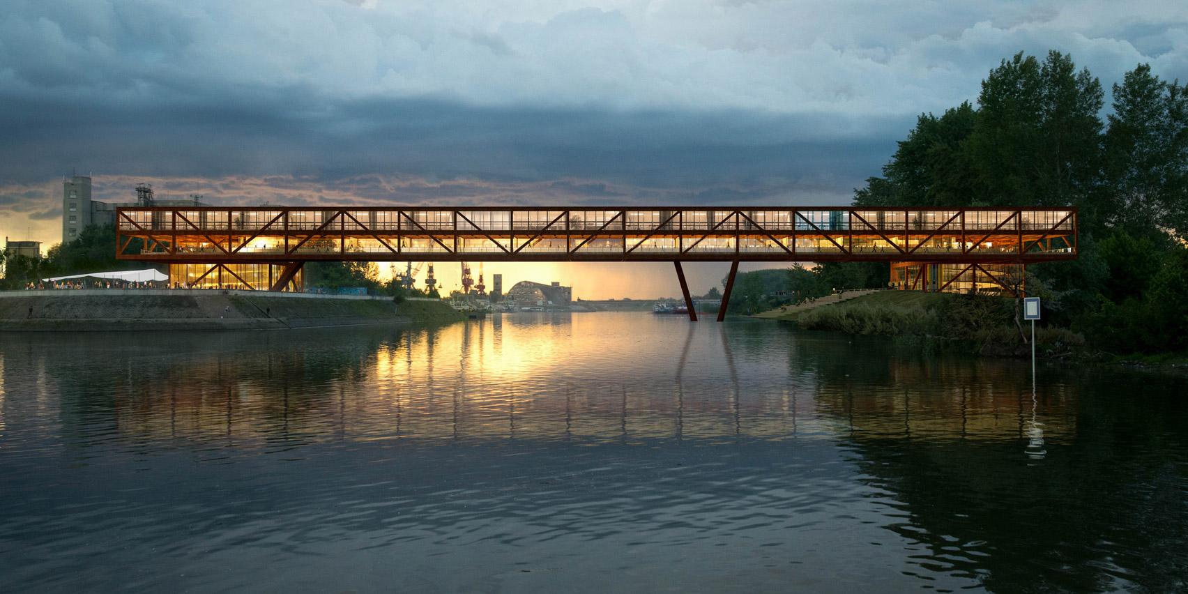 Elbow Shadow bridge by ARCVS in Serbia