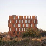 Christensen & Co designs Corten cube for Danish utility company