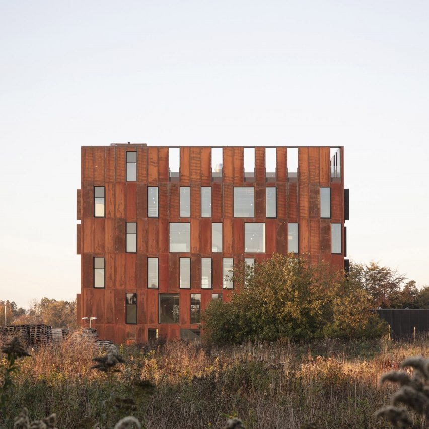 Christensen & Co designs Corten cube for Danish utility company