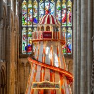 Helter skelter installed in Norwich Cathedral so visitors can admire its architecture up close