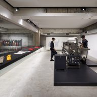Tokujin Yoshioka puts garment making on show inside Tokyo's Homme Plissé flagship