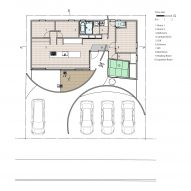 Floor plan of House in Konohana by FujiwaraMuro Architects