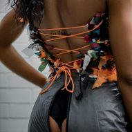 Chloe Baines In Tents upcycled fashion collection