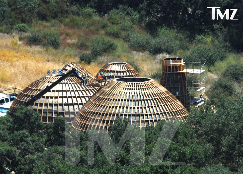 Kanye West homeless housing prototypes under construction