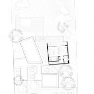 First floor plan of The Lakehouse by CollectiveProject