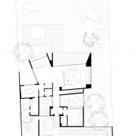 Ground floor plan of The Lakehouse by CollectiveProject