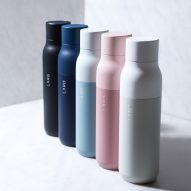 LARQ water bottle self-cleans using UV light