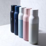 LARQ water bottle self-cleans using UV light