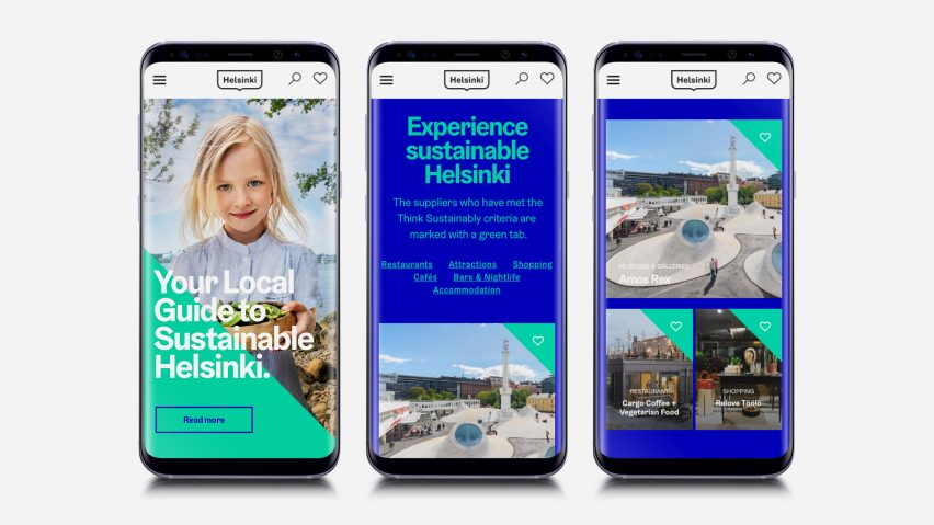 Think Sustainably digital service by the City of Helsinki