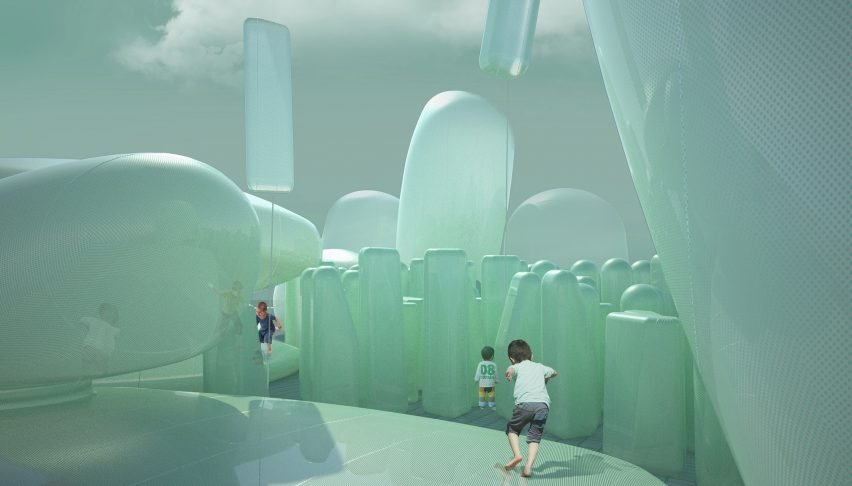 Inflatable Seoul garden by SKNYPL