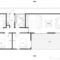 Floor plan of OCM House by Studio Jackson Scott