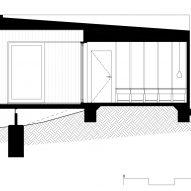 Section of OCM House by Studio Jackson Scott