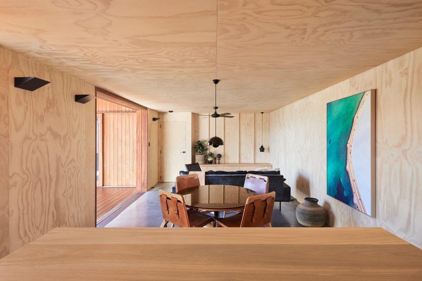 Living room of OCM House by Studio Jackson Scott