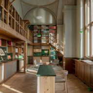 Emma Olbers Design adds new furnishings to The Old Library in Stockholm