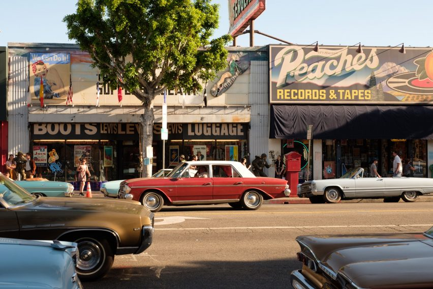 Set design by Quentin Tarantino's Once Upon a Time in Hollywood movie