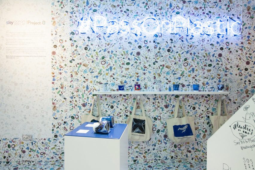 Pass on Plastic pop up store by Shed Design