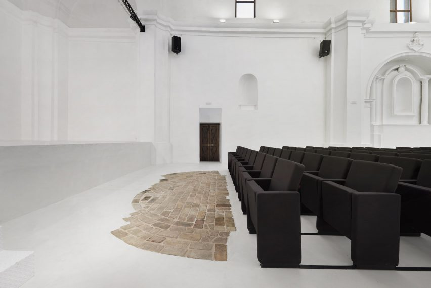 Renovation of Saint Rocco's Church into a theatre by Luigi Valente and Mauro di Bona