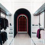 Delicate glass shelves illuminate Las Vegas boutique by Dan Brunn Architecture