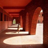 Children's scribbles inform terracotta school by Samira Rathod Design Associates
