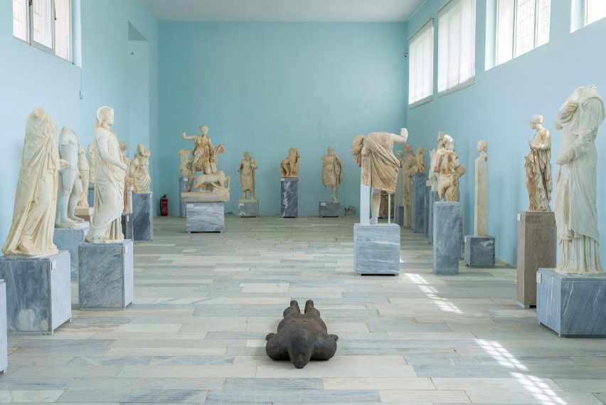 Sight exhibition on Delos by Anthony Gormley