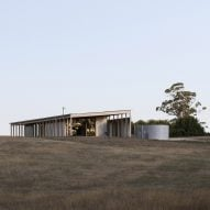 Lovell Burton uses agricultural materials for shed-style Australian house