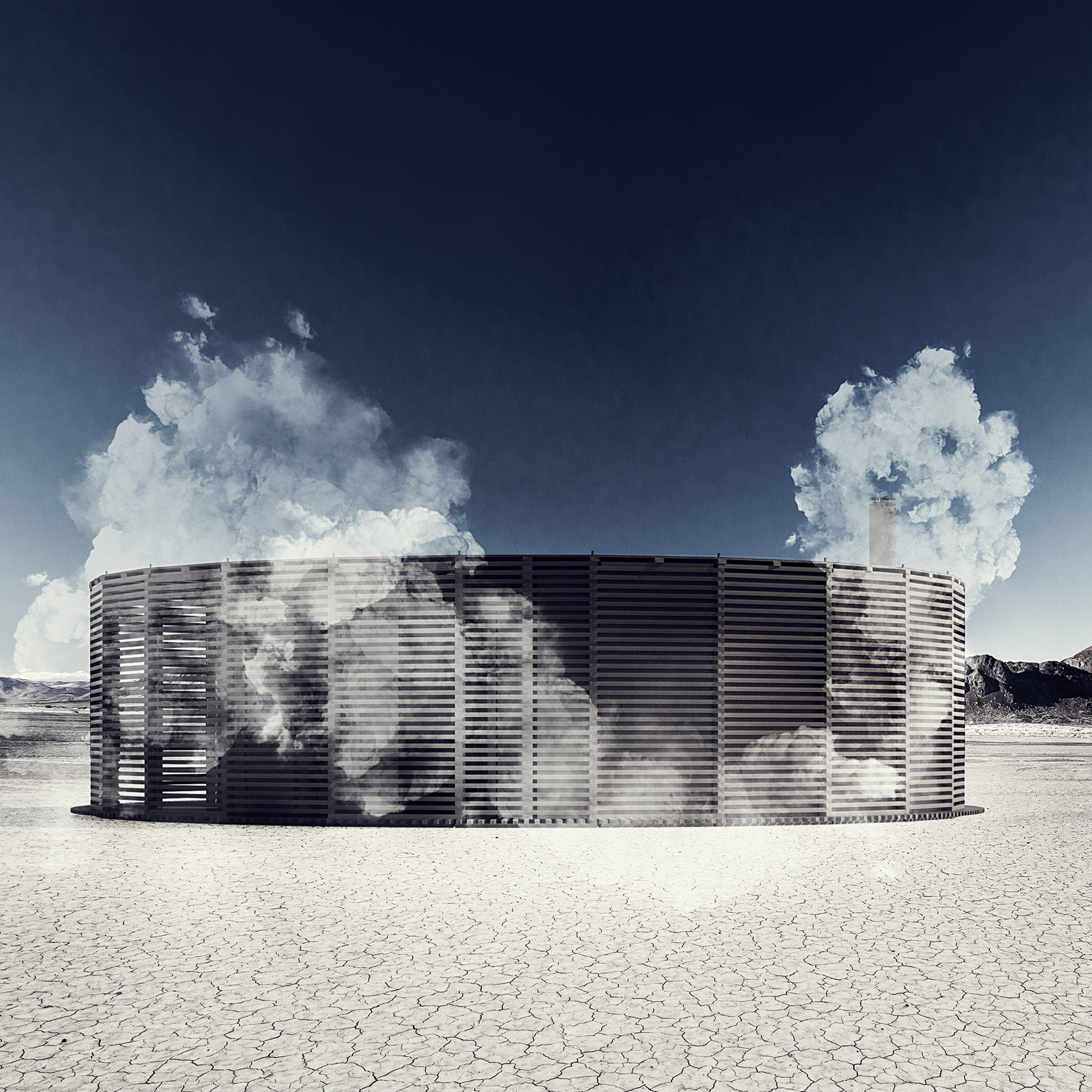Steam of Life Pavilion for Burning Man 2019 by JKMM Architects and Sauna on Fire