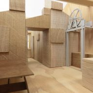 Model of Studio Represent wood office by Alder Brisco