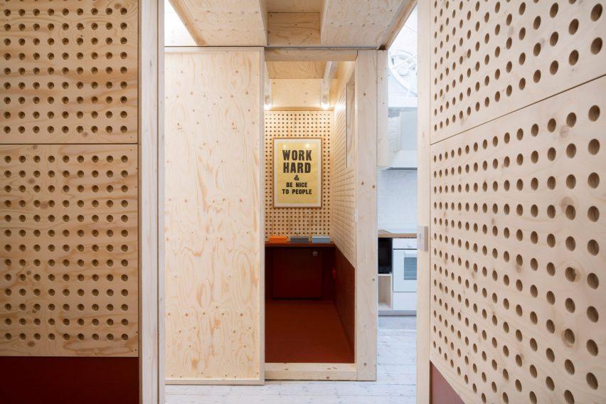 Meeting room in Studio Represent wood office by Alder Brisco