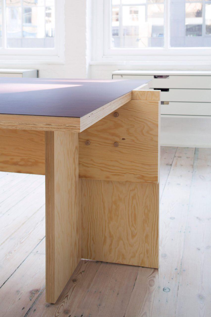 Desks in Studio Represent wood office by Alder Brisco