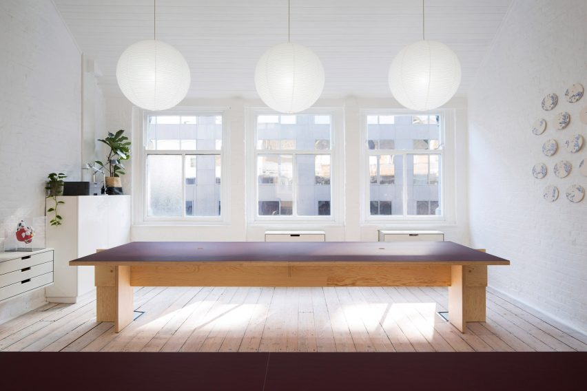 Workspace in Studio Represent wood office by Alder Brisco