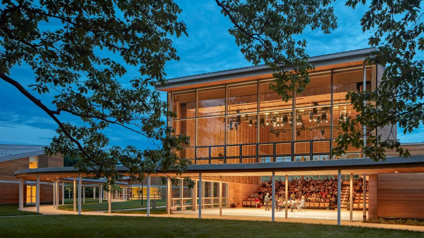 William Rawn designs cedar-clad pavilions for Tanglewood campus in the Berkshires
