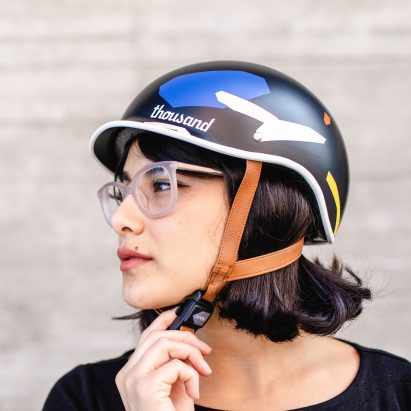 Thousand x Poketo bike helmets collection