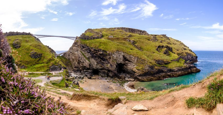 Tintagel Castle Bridge by William Matthews Associates