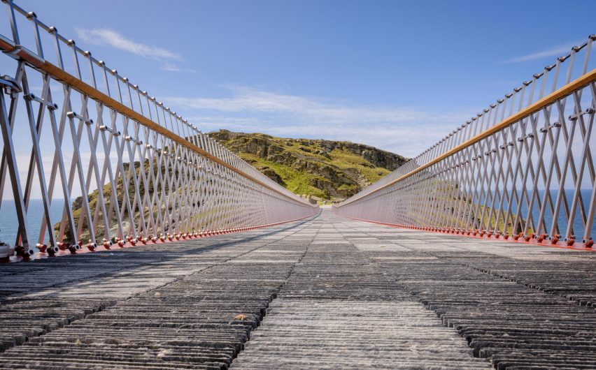 Tintagel Castle Bridge by William Matthews Associates