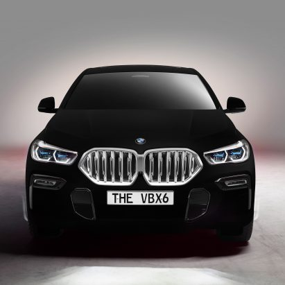 Vantablack BMW car