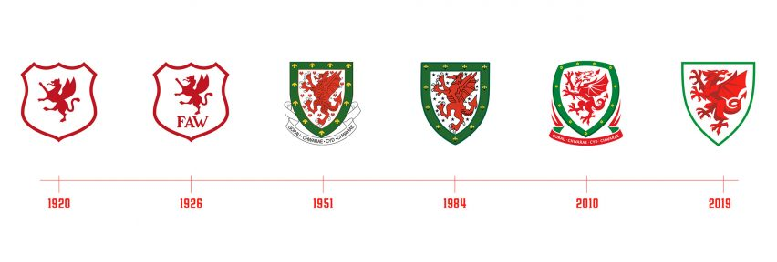 Football Association of Wales unveils new visual identity featuring simplified dragon logo