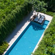 Tropical plants cover villas at Wyndham Garden Phú Quốc resort in Vietnam