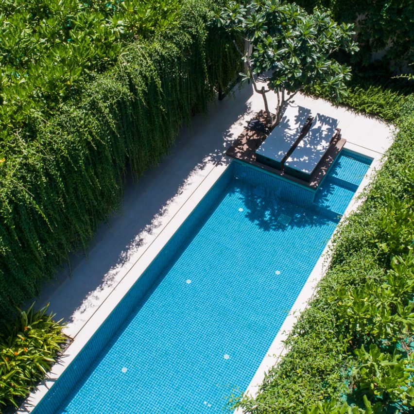 Tropical plants cover villas at Wyndham Garden Phú Qu?c resort in Vietnam