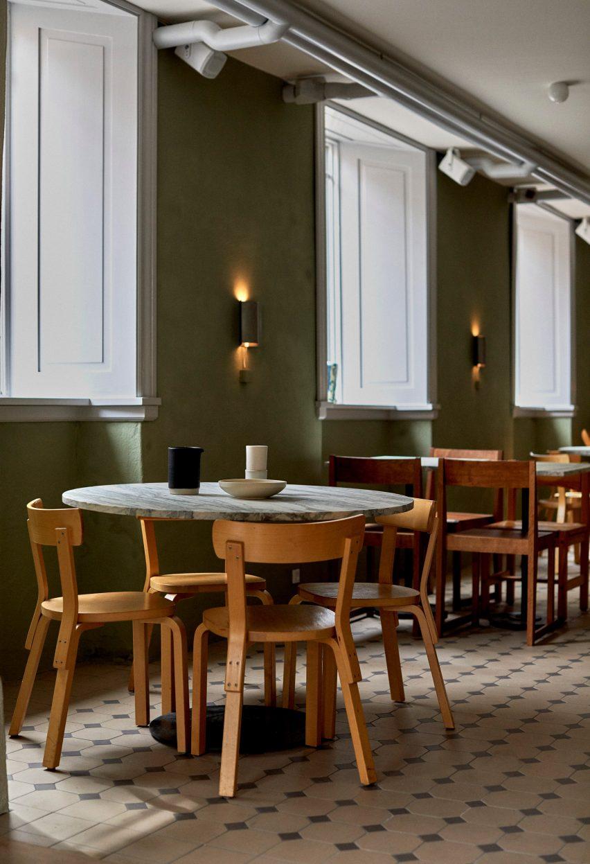 Yaffa restaurant, Copenhagen, designed by Frama
