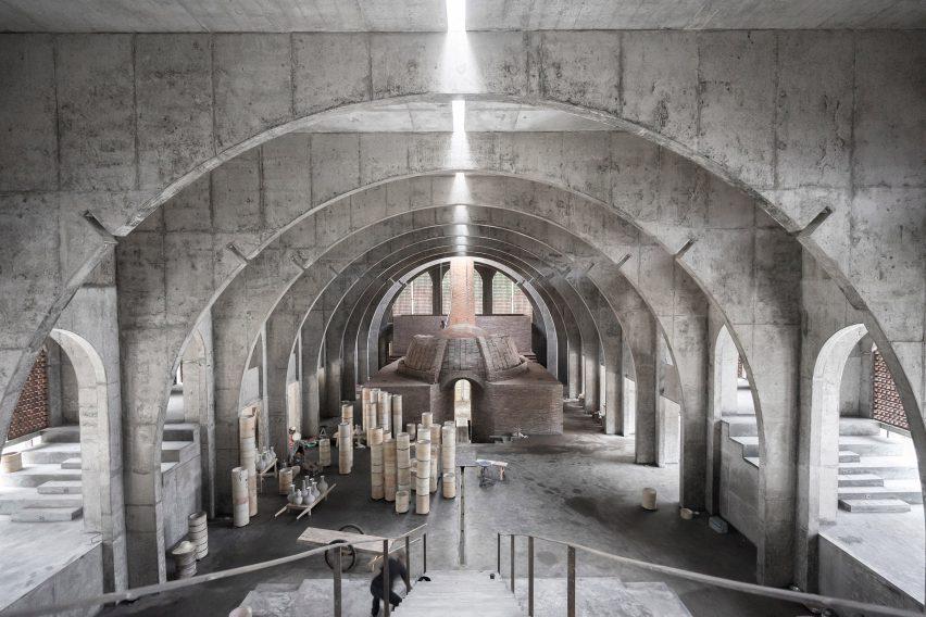 BingDing Wood Kiln Factory by AZL Architects