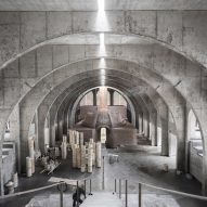 Concrete arches cocoon egg-shaped kiln in Chinese porcelain factory
