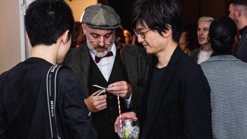 Shortlisted designers Kosuke Araki and Satoshi Yoshiizumi, principal of Takt Project