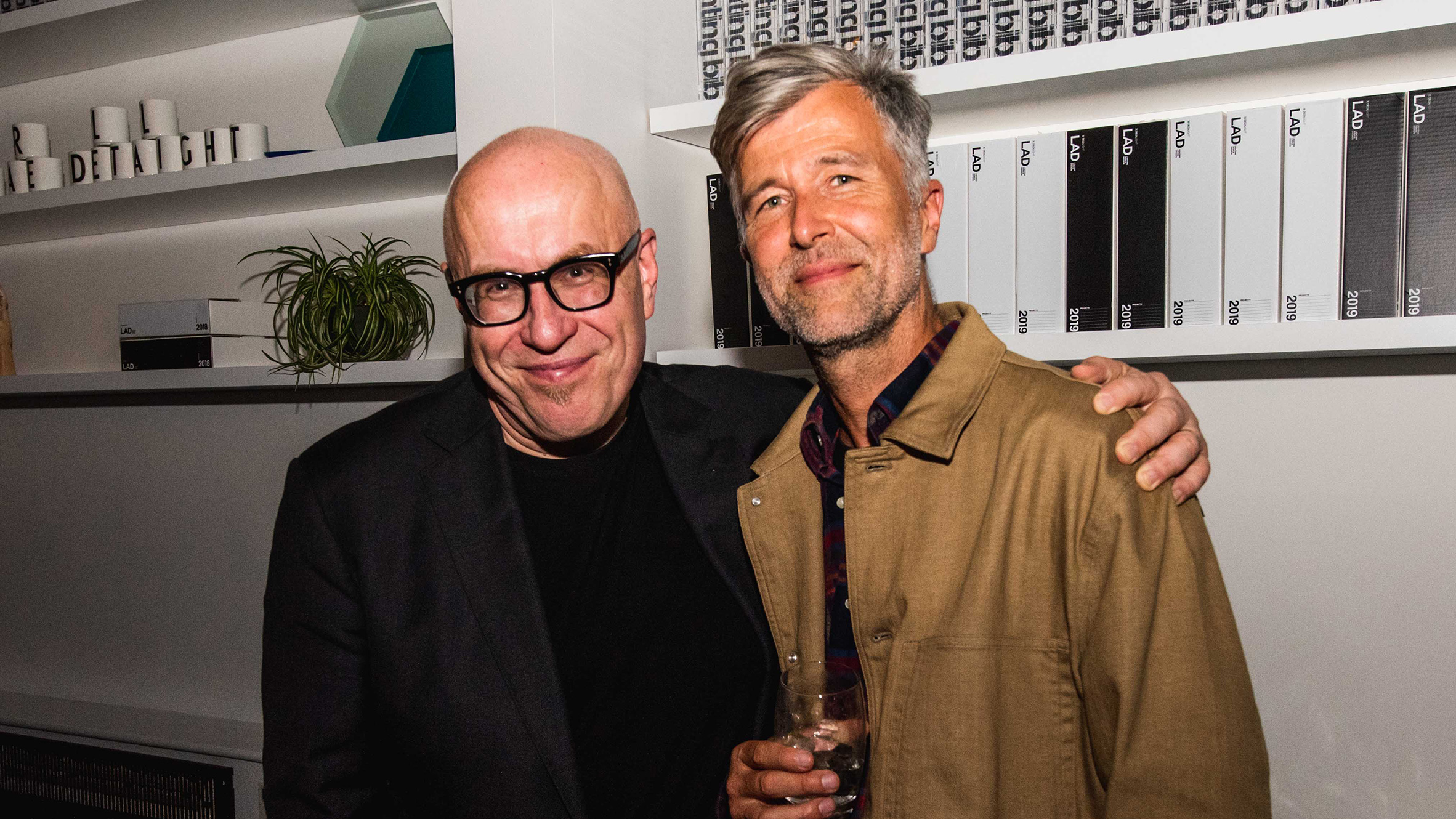 Dezeen Awards 2019 judge Eero Koivisto with Luke Pearson of PearsonLloyd