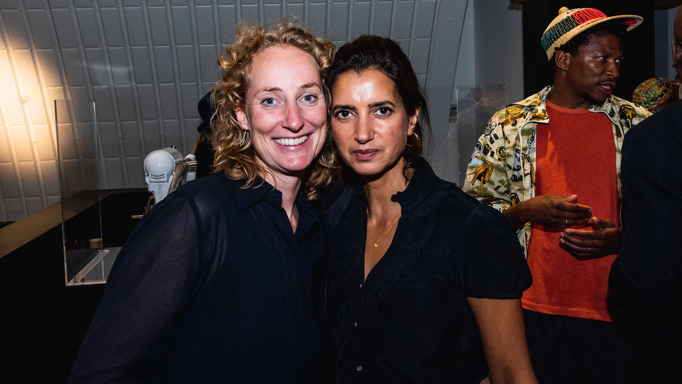 Atelier NL co-founder Lonny van Ryswyck with Dezeen founder Rupinder Bhogal