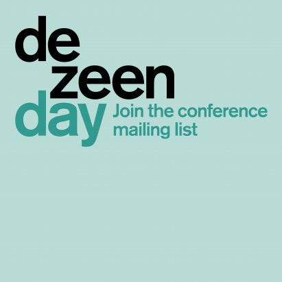 Dezeen Day sign up to mailing list