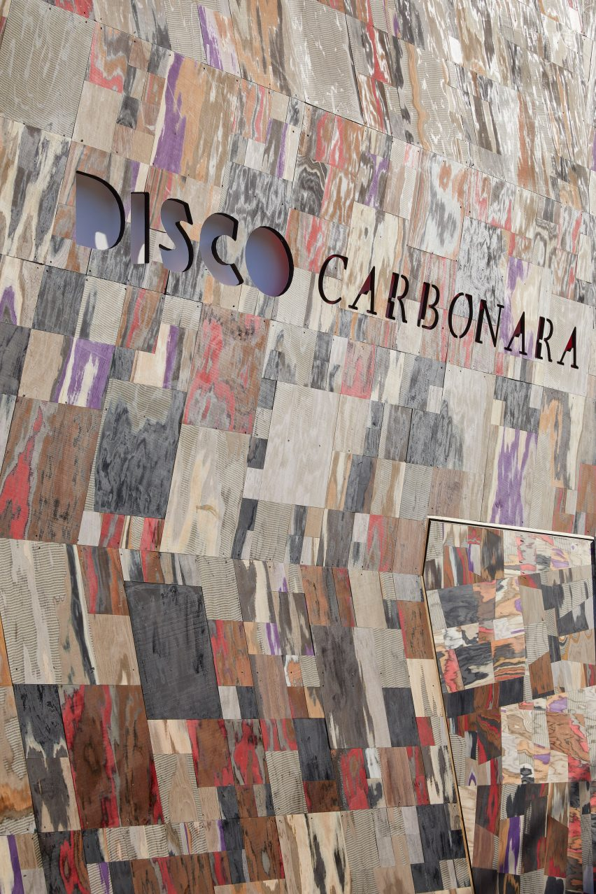 Disco Carbonara Martino Gamper installation