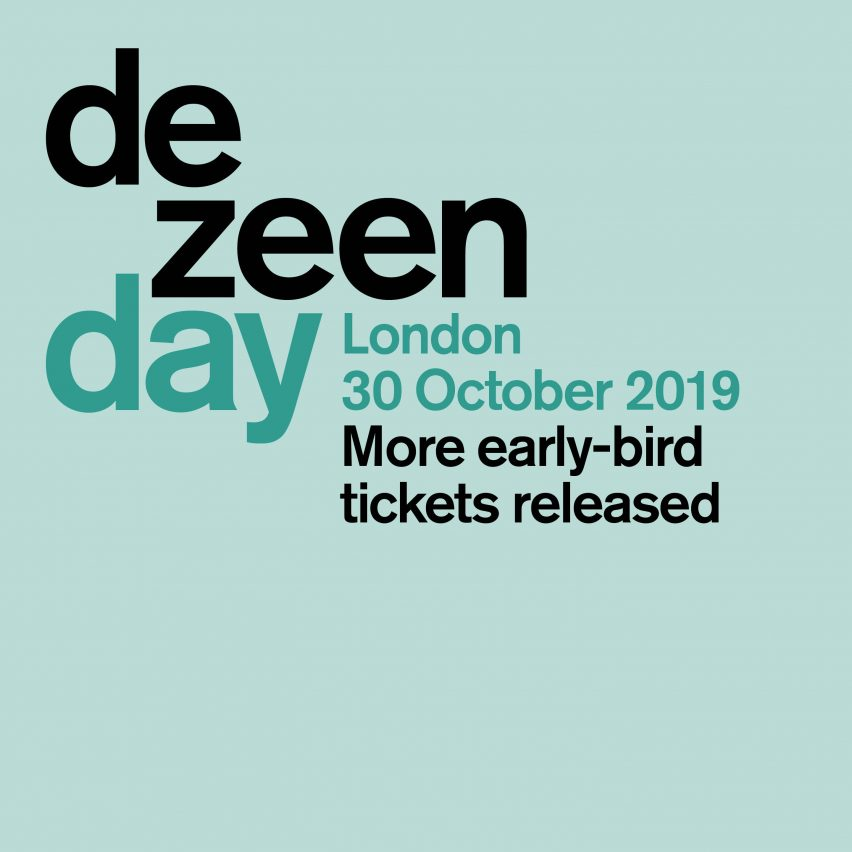 More early-bird tickets for Dezeen Day available for a limited time