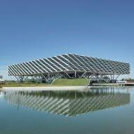 World of Sports Arena, on Adidas campus in Herzogenaurach, Germany, by Behnisch Architekten
