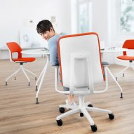 "AT 187 office chair promotes ""dynamic sitting"" to prevent backache at work"